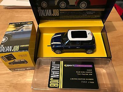 Scalextric C2539A Mini Cooper Italian Job Blue Limited Edition