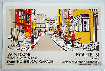 Carte Postale NEUF LONDON Transport Museum WINDSOR 1926 ROUTE 81 DAILY