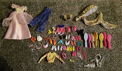Bundle of Mixed Barbie/Dolls Items Shoes/Clothes/Brushes etc