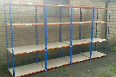 4 Bays Heaving Duty Racking   !shelving With Boards  !!!!!!