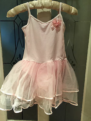 Girls Ballet style pale pink leotard with net skirting age 9 yrs