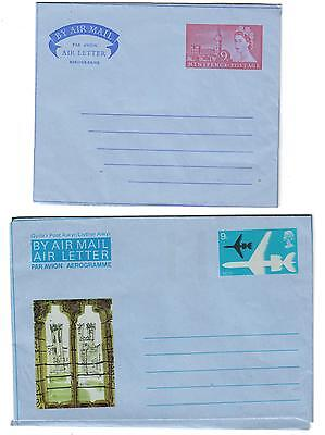 GB    - 4 unused Air Mail Letters in good condition