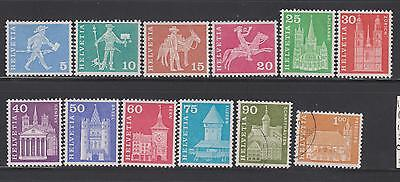 Switzerland 1960 from SG614  -  10 mounted mint 2 used