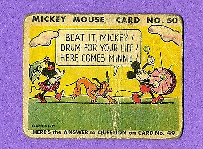 Three (3) card lot of 1935 Mickey Mouse #13, #46 and #50