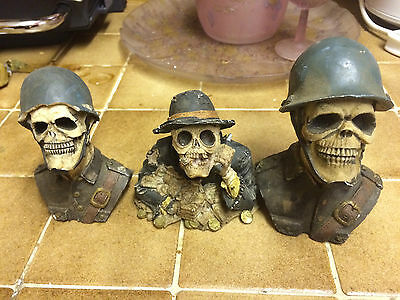3 Small Skelton Heads , 2 German Soldiers and 1 Gambler