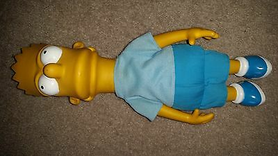 """THE SIMPSONS Bart Simpson 20"""" Large Plush Doll With Hard Shell Head 1990 ACME"""
