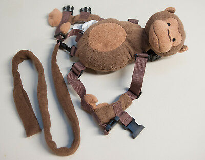 Toddler Safety Harness with Leash, Monkey Style Backpack with Pocket and Strap