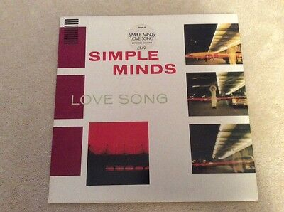 """Simple Minds Love Song 12"""" vinyl record"""