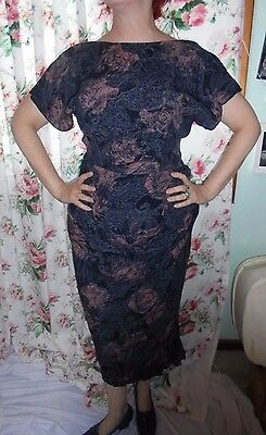 Stunning Womens Vintage Cue 40s 50s Style Dress size 10-12