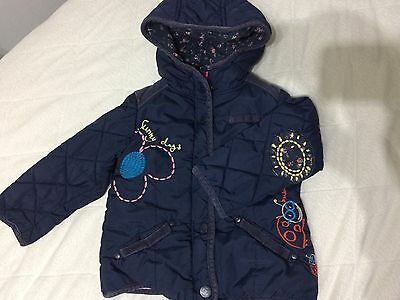 Little girl dark blue coat from Next in size 2-3 years
