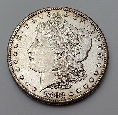 U.s.a - Dated 1882 - Silver - Morgan - $1 One Dollar Coin - American Silver Coin