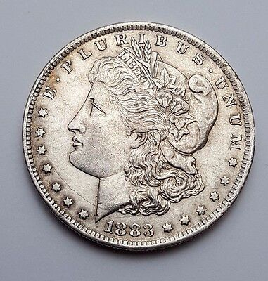 U.s.a - Dated 1883 - Silver - Morgan - $1 One Dollar Coin - American Silver Coin
