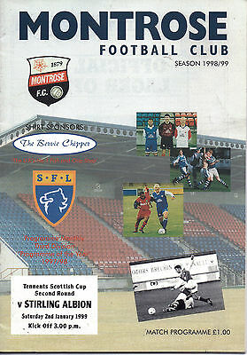 Montrose V Stirling Albion - Tennents Scottish Cup  - Sat 02 January 1999