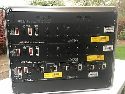 Stage lighting Dimmers - in rack with DMX decoder, cables etc.