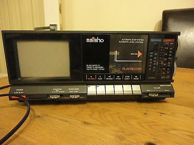Rare Vintage Saisho TCR 600 Television Radio Cassette Recorder Player - Working