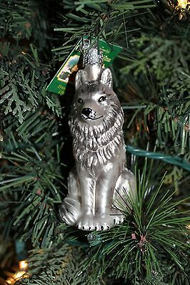 *Wolf* Rare & Retired [12016] Old World Christmas Glass Ornament - NEW