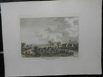 Antique Copper Print Thirlwall Castle Northumberland 1783 Engravd Sparrow Hooper