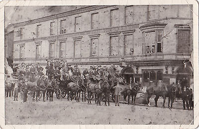 RP Very animated scene outside Alexandra Hotel, Rhyl? (J.Williams name on right)
