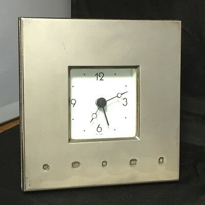 Hallmarked Silver Clock: Design Classic By Carrs Silverware
