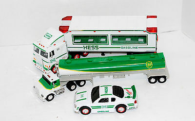 Lot Of 2 Vintage Hess Trucks And Car