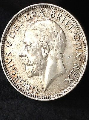1934 George 5th, silver shilling, 1/- coin, Excellent, Free uk P&P