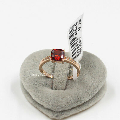 4 CT Genuine Red Ruby Gold Engagement Eternity Ring Simulated Diamond  size 8.5