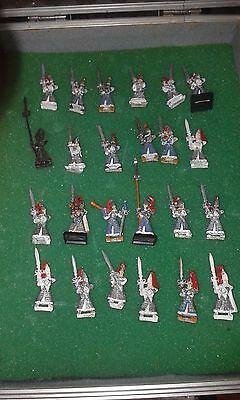 24 High elves Swordmasters of hoeth 1st edition with command group