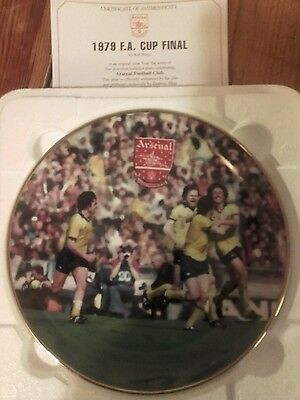 Arsenal 1979 F.A. Cup Final porcelain plate