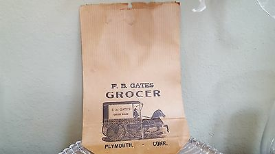 Vintage F.B. Gates Grocery Bag from early 1900's