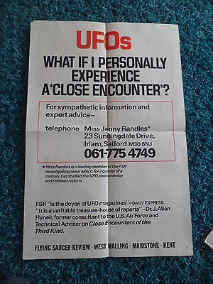 Close Encounters of the Third Kind UK Public Information one sheet poster 1977