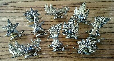 10 victorian metal christmas tree candle clips ornaments