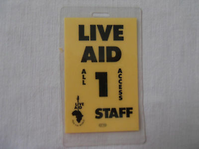 Live Aid backstage pass #1 Rolling Stones 1985