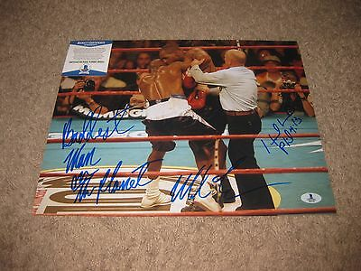 Mike Tyson / Evander Holyfield signed 11x14 Photo Beckett Authentication BAS #1