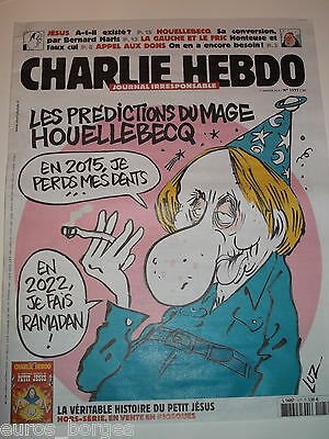 ORIGINAL JE SUIS CHARLIE HEBDO 7 JANUARY 2015 n 1177 day of the attack  法国周报最后查理