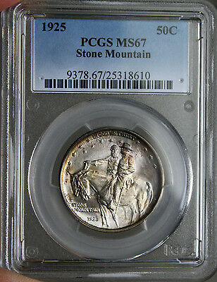 #~☆AWESOME☆~ MS-67 1925 Stone Mountain Half Dollar Commemortive PCGS
