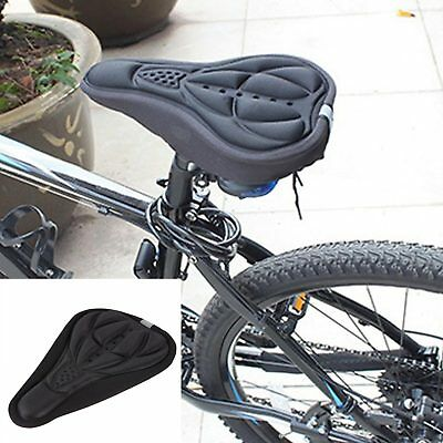 3D Silicone Bike Seat Pad Bicycle 3D Breathable Padded Silicone Cushion | BLACK