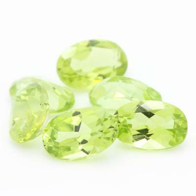 Green peridot . Oval . IF-VVS1 ( sold by unit / individually ) . Pakistan