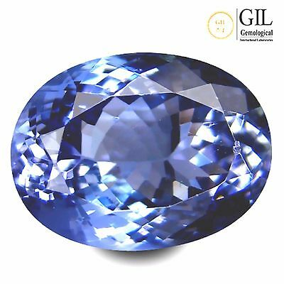 4.33 ct GIL Certified Oval Shape (11 x 8 mm) Bluish Violet Tanzanite Natural Gem