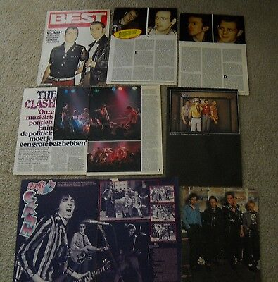 The Clash - Vintage Magazine Clippings