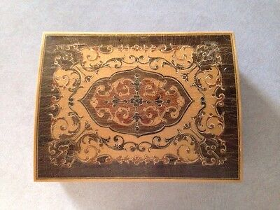 Vintage / Old Wooden Box with Intricate Patterns Wood