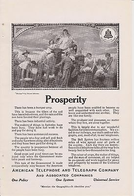 Vintage 1912 American Telephone & Telegraph Co. Bell System Original Print Ad