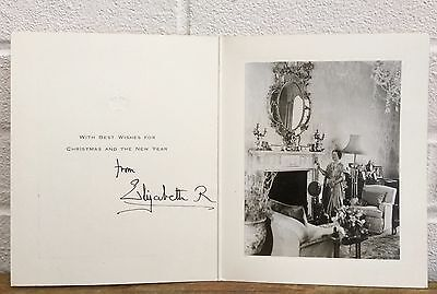 Hand Signed Autograph -Elizabeth Royal, Queen Mother- Christmas New Year Card