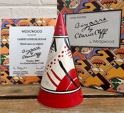 Clarice Cliff Wedgwood -Carpet- Ltd Edition Bizarre Conical Sugar Sifter/shaker