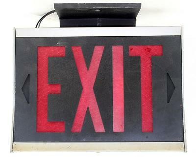 Vintage Art Metal Lighting Co. EXIT Electric Lighted Sign