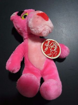 Vintage Pink Panther 1980 Plush Stuffed Animal Mighty Star United Artist
