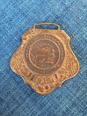 Very Nice Watch Fob Panama Pacific International Exposition PPIE 1915