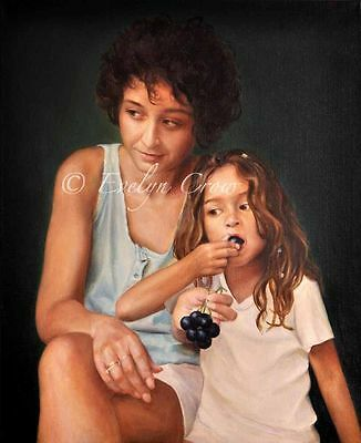 """Oil Painting Custom Portraits from Your Photos 2 People - 24x20"""" by Evelyn"""