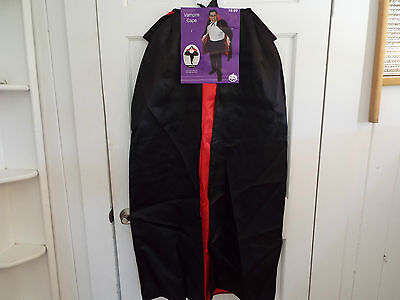 """48"""" Fully Lined Deluxe Vampire Cape ~ HALLOWEEN MAGICIAN COSTUME BLACK CAPE"""