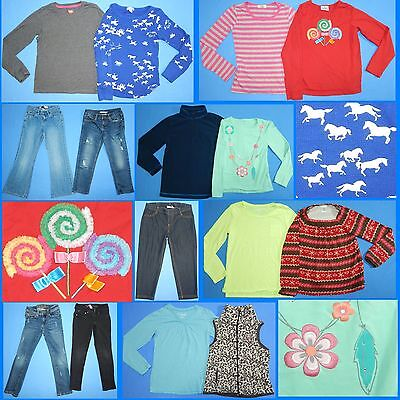 15 Pc. Lot of Nice Clean Girls Size 8 Fall School Winter Everyday Clothes FW102