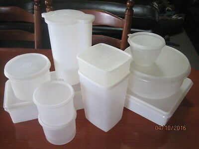Tupperware Vintage Clear  Bulk X 10 Items-Canisters, Jugs, Bread Etc